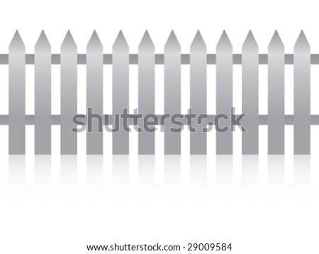 metallic fence - stock vector