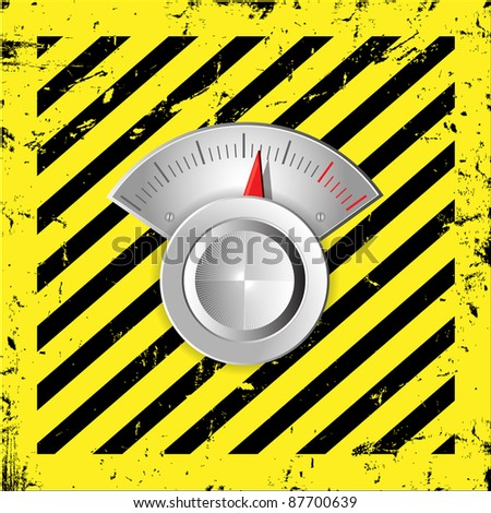 Metallic radial regulator.Vector illustration. - stock vector