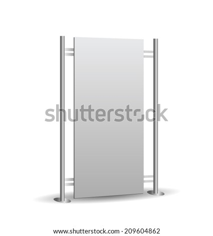 Metallic Roll Up Banner - stock vector