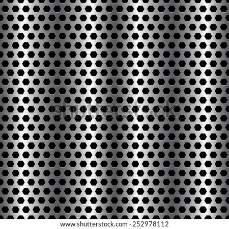 Metallic sheet pattern - Perforated, punched metal.