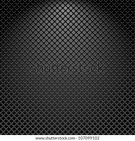 Metallic texture seamless pattern, vector background - stock vector
