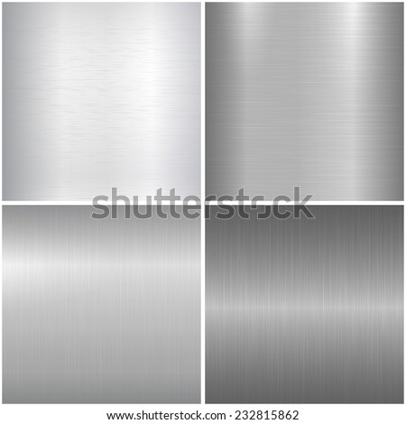 Metallic textures. Vector backgrounds eps 10 - stock vector