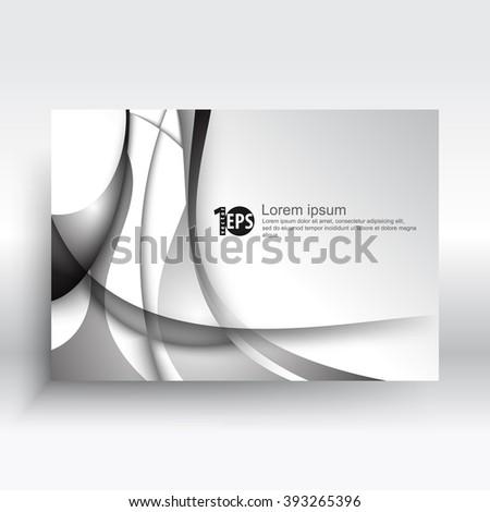 metallic wave elements corporate visual design. eps10 vector background - stock vector