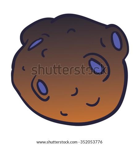 Meteor Brown and Purple Cartoon Vector - stock vector