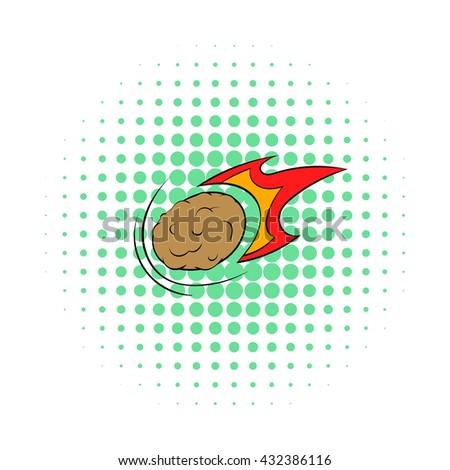 Meteor icon - stock vector