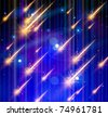 Meteor rain, Space & Stars. Vector illustration. Eps 10 - stock photo