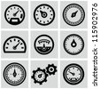 Meter icons set - stock photo