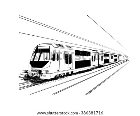 metro sketch in vector - stock vector