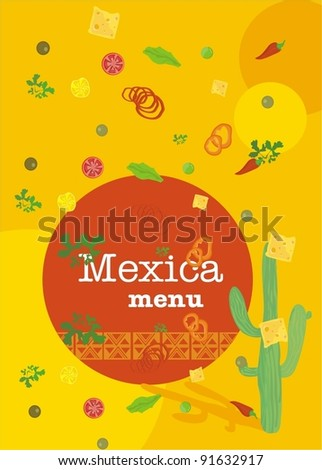 Mexican cookery menu template