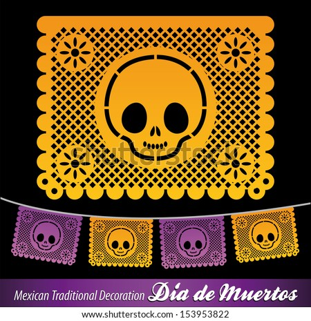 Mexican Day of the death vector decoration  - stock vector