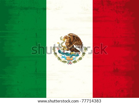 Mexican grunge Flag. A mexican flag with a texture - stock vector