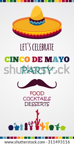 Mexican holiday vector poster/cinco de mayo - stock vector
