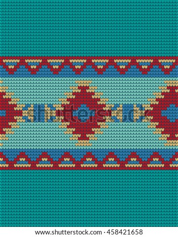 Mexican Indian Knitted Pattern Stock Vector 458421658 Shutterstock