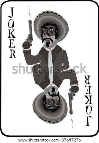 Mexican joker - stock vector