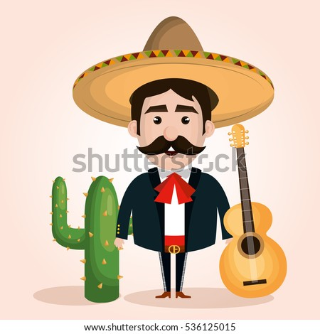 mexican mariachi character classic