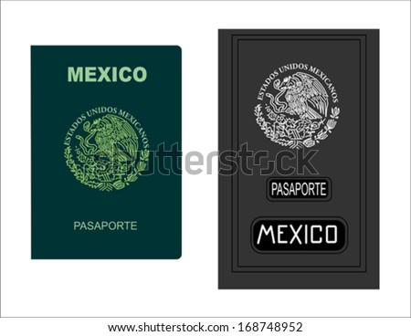Mexican Passport - stock vector