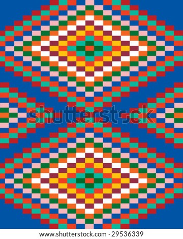 Mexican pattern. Look  through my portfolio to find more images of the same series - stock vector