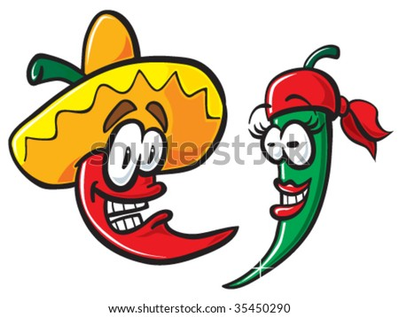 Mexican peppers. - stock vector