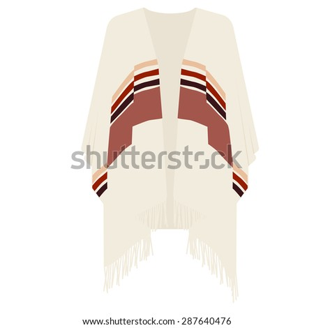 Mexican poncho vector illustration . Mexican clothes - stock vector