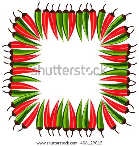 mexican style mexican border concept fiesta menu frame chili pepper flag of