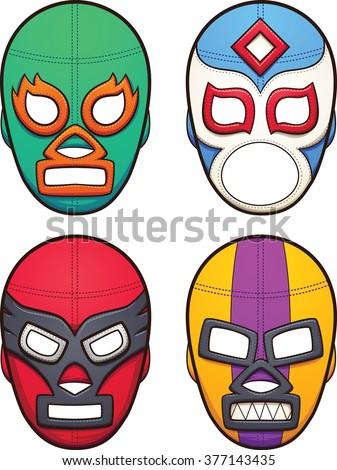 mexican wrestling masks vector clip art stock vector 377143435 rh shutterstock com Cartoon Fisherman Clip Art Cartoon Fisherman Clip Art
