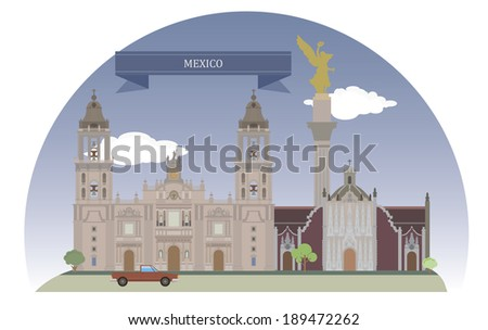 Mexico City, Mexico. For you design - stock vector