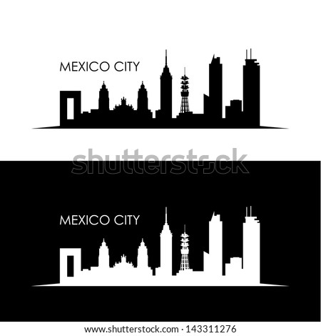 Mexico City skyline - vector illustration - stock vector