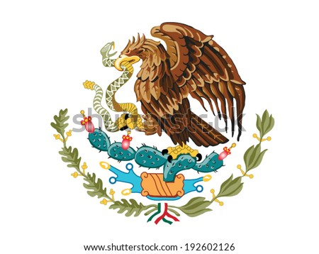 Mexico Coat of Arms - stock vector