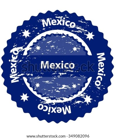 Mexico  Country Grunge Stamp - stock vector