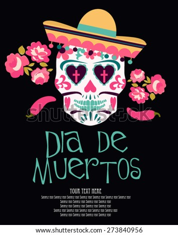 Mexico. Day of the Dead - stock vector
