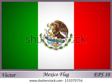 Mexico Flag - stock vector