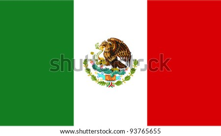 Mexico flag. Vector - stock vector