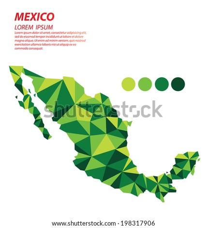 Mexico geometric concept design - stock vector