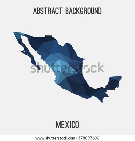 Mexico map in geometric polygonal style.Abstract tessellation,modern design background. Vector illustration EPS8 - stock vector