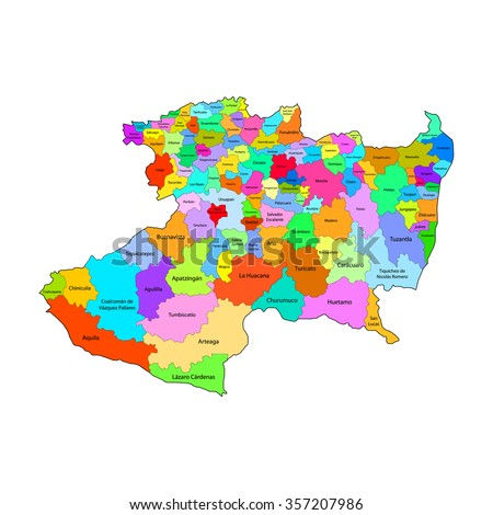 Michoacan map: Mexico City