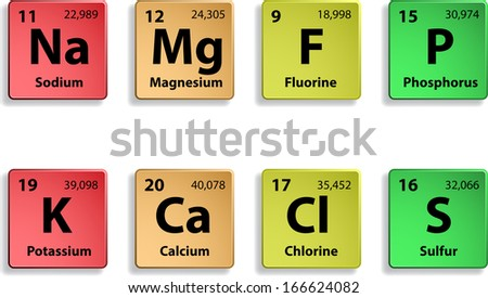 Micro elements on white background. eps10 - stock vector