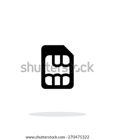 Micro SIM simple icon on white background. Vector illustration. - stock vector