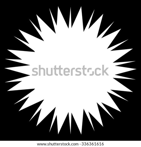 Microbe Spore vector icon. Style is flat symbol, white color, rounded angles, black background.