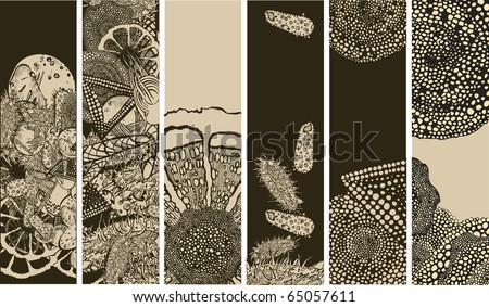 Microbiology banners - stock vector