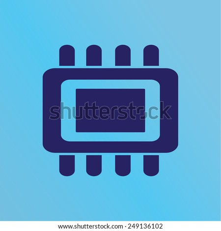 microchip icon - stock vector