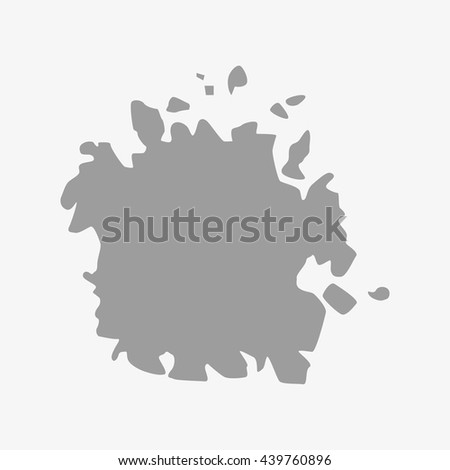 Micronesia map in gray on a white background - stock vector