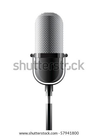 microphone - stock vector
