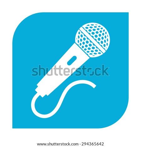 Microphone icon. - stock vector