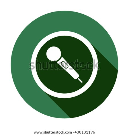 Microphone Icon, microphone icon flat, microphone icon picture, microphone icon vector, microphone icon EPS10, microphone icon graphic, microphone icon object, microphone icon JPEG - stock vector