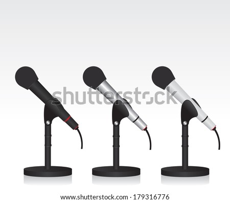Microphone illustration - stock vector