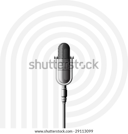 microphone metal on a white background - stock vector