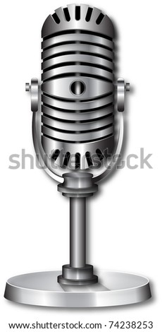 microphone / old /retro - stock vector