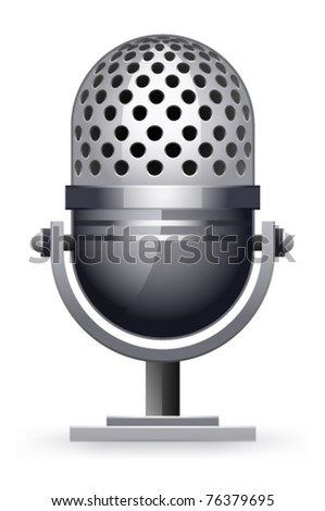 microphone on a white background - stock vector
