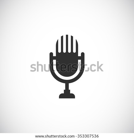 microphone retro web icon - stock vector
