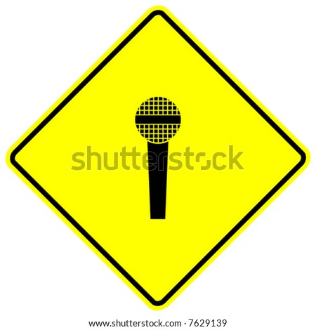 microphone sign - stock vector